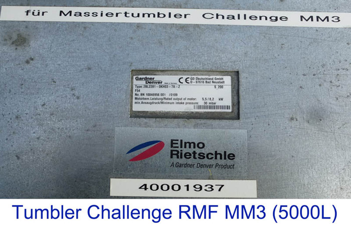 Tumbler Challenge RMF MM3, 5000 litres
