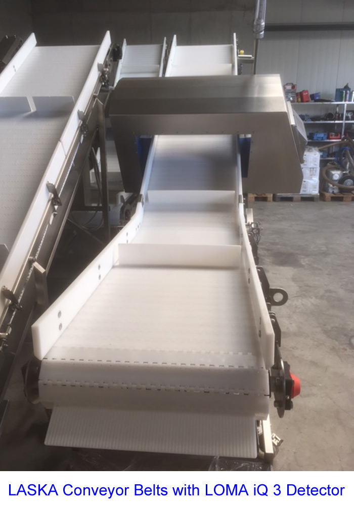 LASKA Conveyor Belts with LOMA iQ 3 Detector