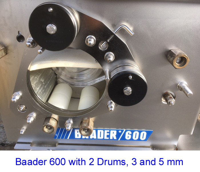 Baader 600 with 2 Drums, 3 and 5 mm
