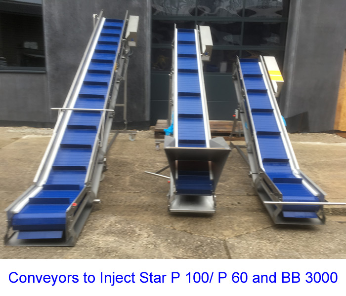 Conveyors to Inject Star P 100/ P 60 and BB 3000