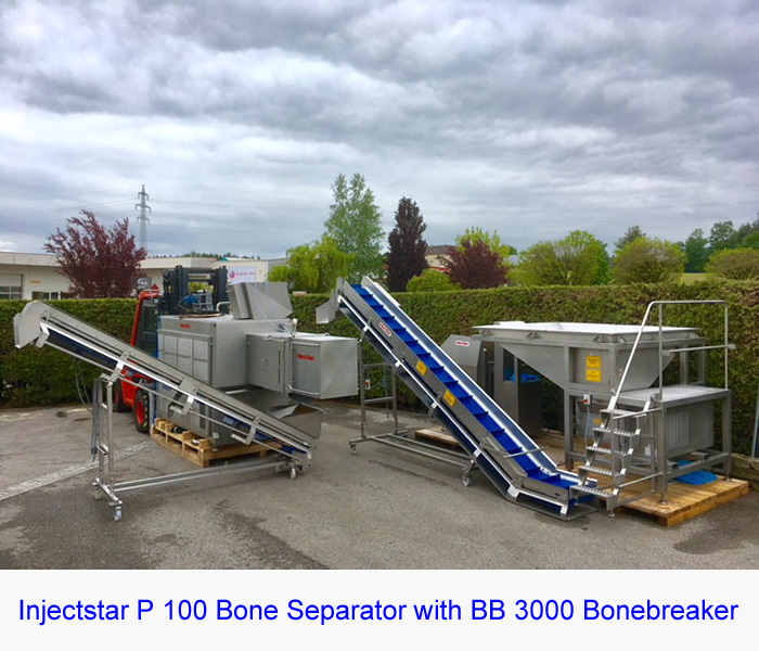 Injectstar P 100 Bone Separator in like New Condition with BB 3000 Bonebreaker