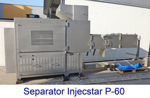 Minced Meat Line, Boneseparator Laska KB60   Separator Injecstar P-60 with Loader and Baader 600